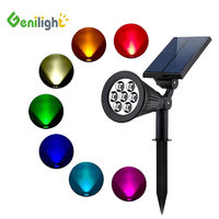 Genilight Wholesale Changing colo Led Outdoor Landscape Courtyard Waterproof Garden Solar Lawn Light