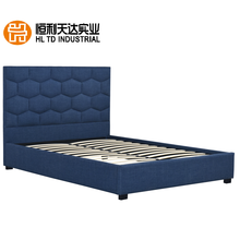 Gestoffeerde stof hoge queen size platform bed frame bed room furniture