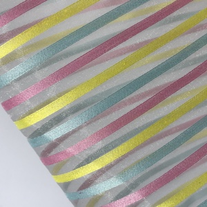 Wholesale Polyester Rainbow Color Organza Fabric
