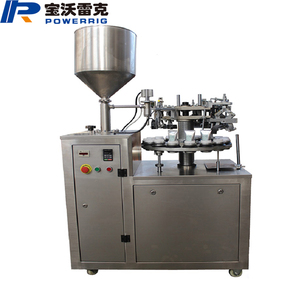 Semi-automatic aluminum ointment filling and sealing machine