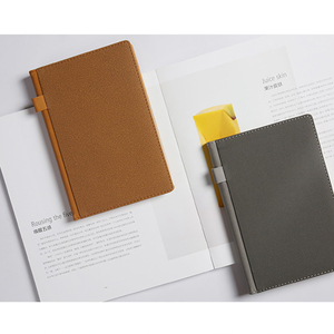 Classic Binding School Notebook, Custom Leather Cover Office Notebook made in china