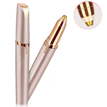 Wholesale woman cheap painless lipstick shape rechargeable brows hair remover shaver electric eyebrow epilator