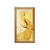 Large Size Wood Gold Frame Painting Hanging Hotel Wall Art Tree Print Peacock Canvas Painting