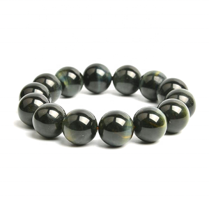 Wholesale natural color tiger eye stone carved lucky beads bracelet for friendship