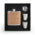 OEM custom 6OZ wooden hip flask gift set with 2 wine glass and funnel