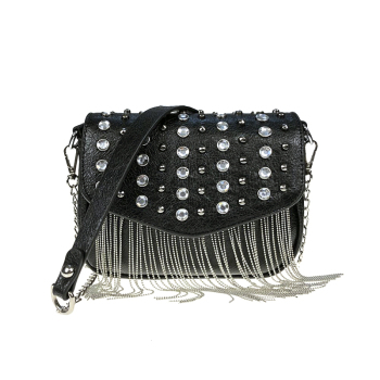 Wholesale fashion PU leather mini girls shoulder bags with tassel