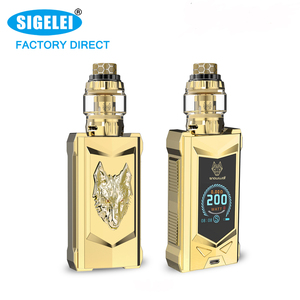 Factory outlet In stock!! SIGELEI SNOWWOLF mfeng kit 200w electronic cigarette e cigarette vape mod box mod vape mods