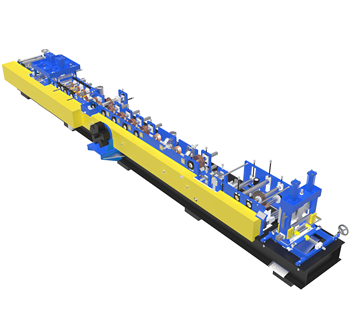 Hot Sale  CE&ISO Certificated High Speed Fully Automatic C Purlin Roll Forming Machine For Construction