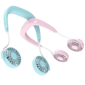 New design Hands Free sport Wearable Portable Neckband USB Rechargeable Fan