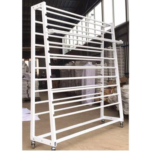 Double Side Textiel Display Rekken/Stof Roll Display Hangers/Doek Stands Rekken