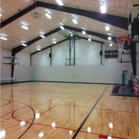 Fast build prefabricated Steel structure design badminten basketball sports hall