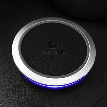 FLOVEME Free Shipping PU skin hot sell wireless charger 5v 2a quick wireless charger qi certified