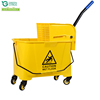 Whosale Top Quality 20L single plastic wringer mop bucket with wheels for Hotel cleaning company restaurant