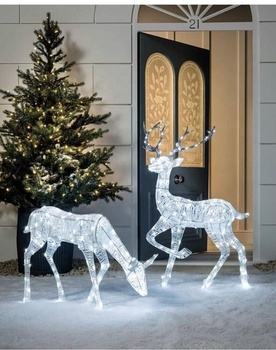 factory hand made acrylic deer christmas led reindeer lighting decoration outdoor