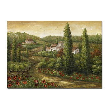 Printed canvas artist home decoration gift Indian Village Rural Landscapes Oil Paintings Canvas From Photos