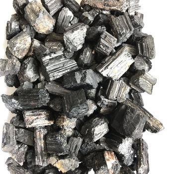 Natural Black Tourmaline Stone Rough Tourmaline Stone for Wholesale