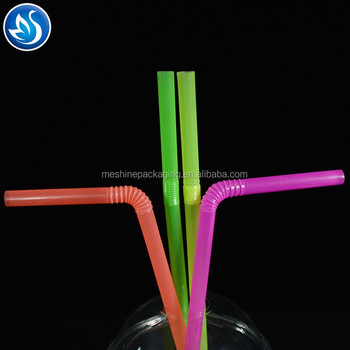 Clear Solid Colors Plastic Acrylic straw with ring,free Reusable plastic straw,Replacement plastic Straws