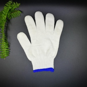 wholesale warm organic cotton knitted gloves for workers