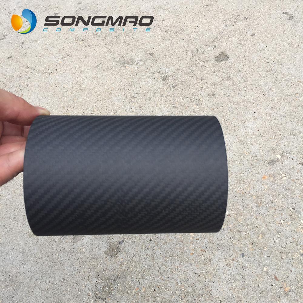 Universal OE EDM Style Bumper moldings Protection Guard  4 pcs CARBON Fiber Look