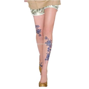 450701da471 Kitten Print Knee High Length Socks cartoon Tattoo Tights Pantyhose  Stockings