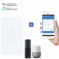 Smart Wifi 3 gang Wall Switch Smart Home Automation with Tuya APP