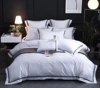 Hotel Platinum Bed linen collection Luxury Egyptian Cotton 400 Thread Count Hotel Embroidery Bedding set