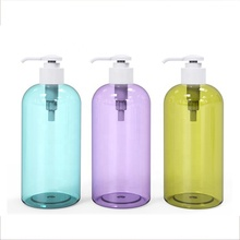 Reise hotel leere trapez form dusche gel pet kunststoff flasche mit <span class=keywords><strong>flip</strong></span> top cap