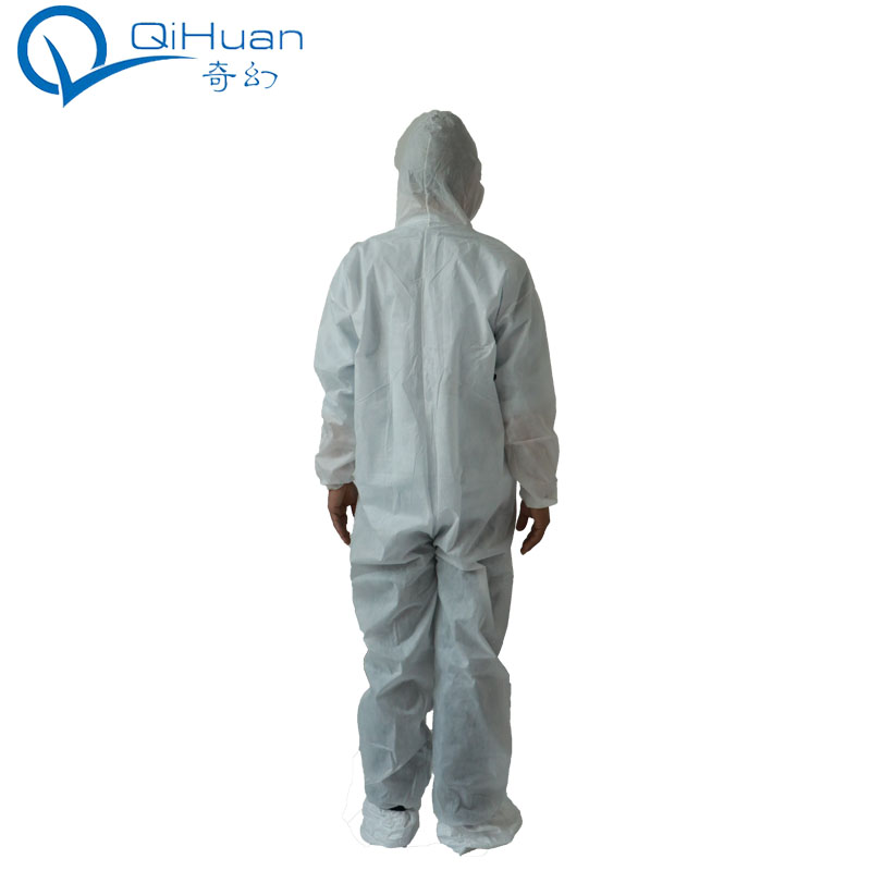 Non woven ,waterproof PP nonwoven protective safety disposable coverall