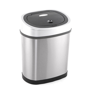Modern Stainless Steel Intelligent Automatic Touchless Trash Can for Home Hotel Ware