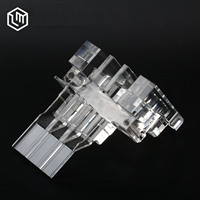 MOQ 1 piece Custom precision PMMA acrylic plastic CNC machining parts