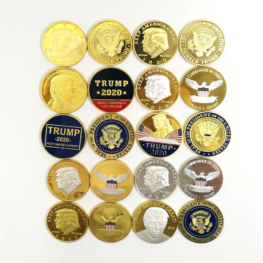 Custom 2019 2020 New American Eagle Gold Silver Donald Trump Challenge Coin  - Buy Trump Challenge Coin,Gold Silver Donald Trump Challenge