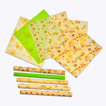 FDA FLGB Approved 3pcs/set Seal Food Fresh  Vacuum Food 100% pure natural washable eco-friendly Beeswax Wrap
