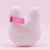 Cute Rabbit Bunny Shaped Microfiber Makeup Remover Pads Washable Reusable Facial Cleaning Cloth
