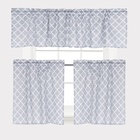 High quality 3 pieces set printed kitchen curtain rod pocket curtain brand name curtain