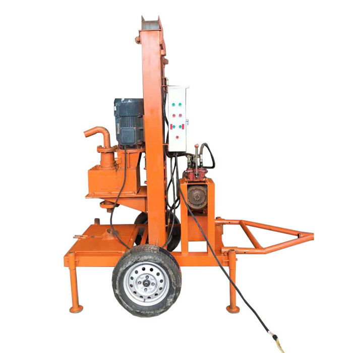 Hydraulic Portable Water Well Drilling Rig 200m Manufacturer Trailer type water well drilling rig