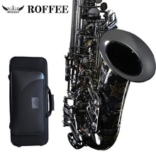 ROFFEE M600 Original Import Professionelle Leistung Ebene Alto Messing Schwarz Nickel Gold <span class=keywords><strong>Eb</strong></span> Ton Saxophon