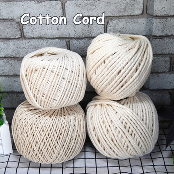 Wholesale thick thin DIY craft natural twisted 5mm cotton macrame rope 5mm