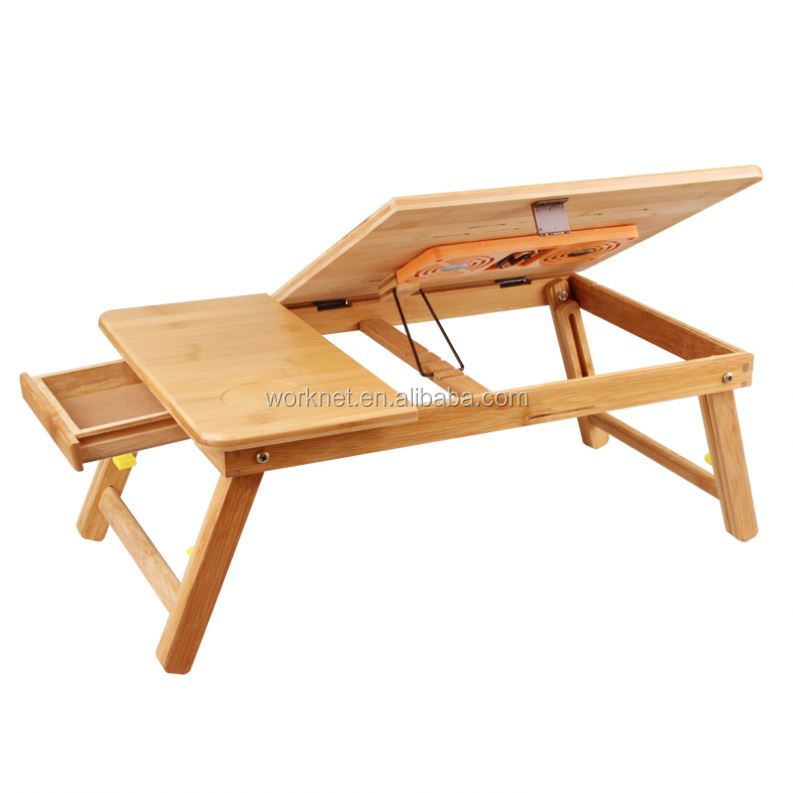 2019 new products adjustable bamboo <strong>laptop</strong> computer <strong>folding</strong> desk bed study <strong>table</strong> for home