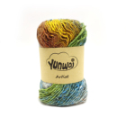 Space Dyed Mix Colors Silk Cotton Yarn for Hand knitting yarn