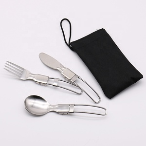 Metal Material and Flatware Sets Flatware Type Folding camping cutlery