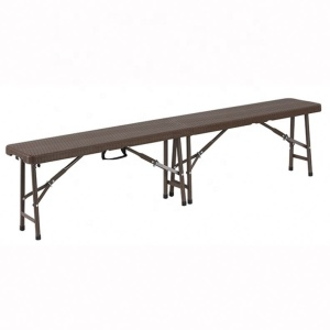 2.4m plastic folding in half banquet /foldable outdoor picnic catering|lightweight outdoor cheap table made in china