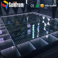 Portable illuminated disco/club/dj/events stage digital led seamless dance floor