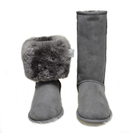 Free Samples Best Sellers Genuine leather Long Boots Sheepskin And Fur Lining Women Winter Warm Snow Boots