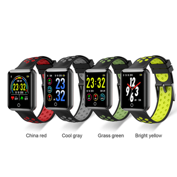 Q18 Waterproof Smart Sports Wristwatch Large Capacity Battery Heart Rate Monitor Parameter Smart wristwatch