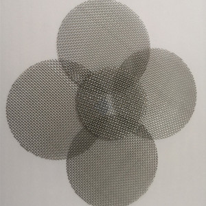50 mesh stainless steel round woven net/cloth filter plate for plastic granulator