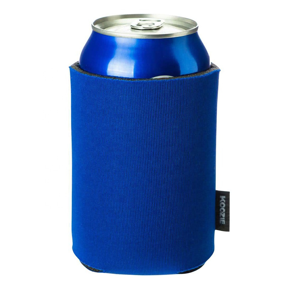 collapsible neoprene TWO-TONE beer can koozies, beer can pocket coolie