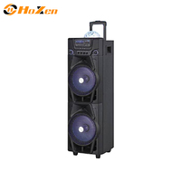 great sound big battery power output 2*10 inch audio active portable speakers with 2 years warranty,fm radio usb