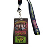 Factory cheap price custom multi-color logo VIP Badge card backstage passes card with polyester material printed lanyard
