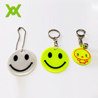 WX custom logo personalized key chain cute reflective pvc keychain
