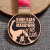 Shuanghua customize zinc alloy bronze metal marathon medal with lanyard
